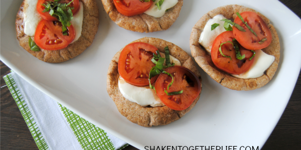 Whole wheat pita caprese snacks - an easy healthy snack for kids!