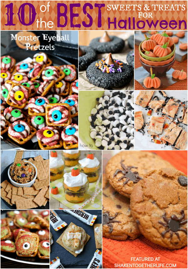 10 of the BEST sweets and treats for Halloween! Spooky fun cookies, snacks, dip and more!