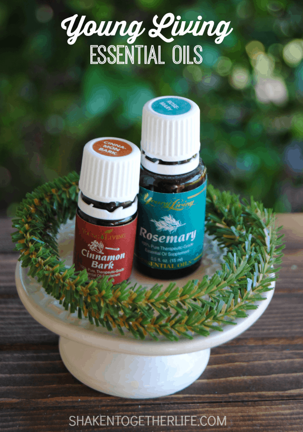 Young Living Cinnamon Bark and Rosemary essential oils are one of the two ingredients you need to make a refreshing foot soak!  Perfect for gift giving!