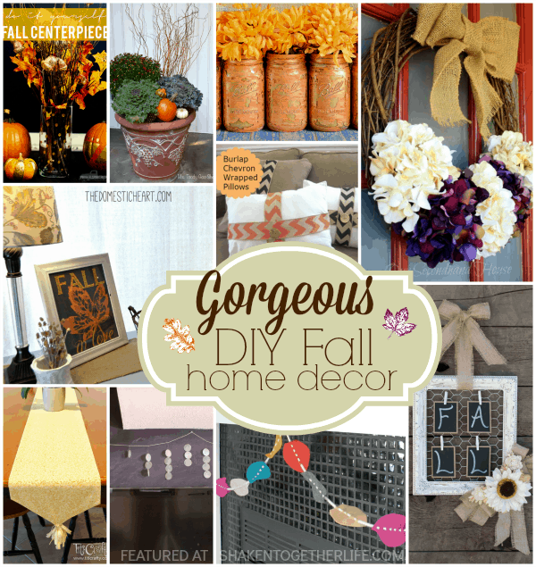Gorgeous Diy Fall Home Decor 10 Inspiring Tutorials