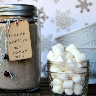 French Vanilla Hot Cocoa Mix Mason Jar Gift