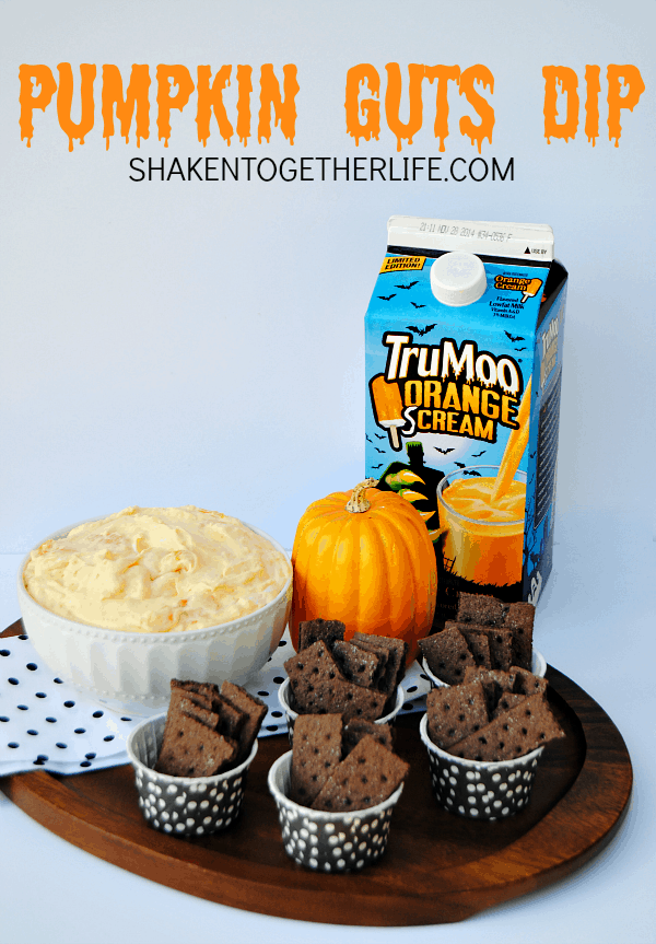 Gloopy gloppy totally tasty Pumpkin Guts Dip - only 4 ingredients!