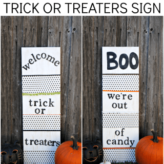 Reversible Glow in the Dark Trick or Treaters Sign