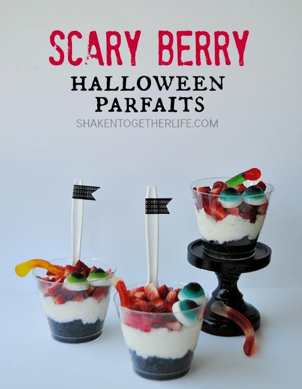 Scary Berry Halloween Parfaits - delightfully dreadful layers of Halloween fun!