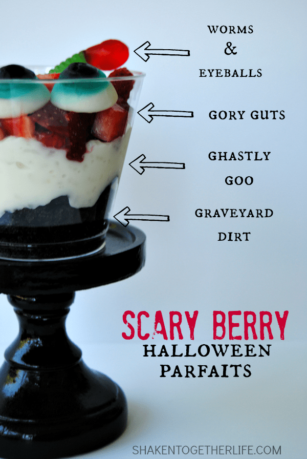 Scary Berry Halloween Parfaits - delightfully dreadful layers of Halloween fun!