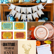 Spark dinner conversation, package leftovers, decorate for Fall and more with these 6 FREE Thanksgiving printables!