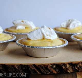 Easy Holiday Desserts ~ Eggnog Pudding Pies