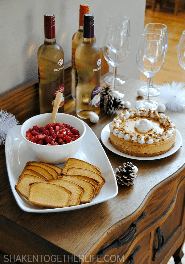 Great tips and delicious recipes for setting up an awesome holiday wine and dessert station!