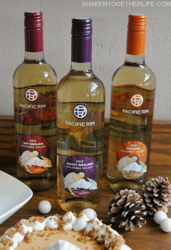 Riesling is a beautiful wine to pair with desserts - more great tips on setting up a holiday wine and dessert station!
