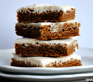 Maple Cookie Bars & Brown Sugar Cream Cheese Frosting