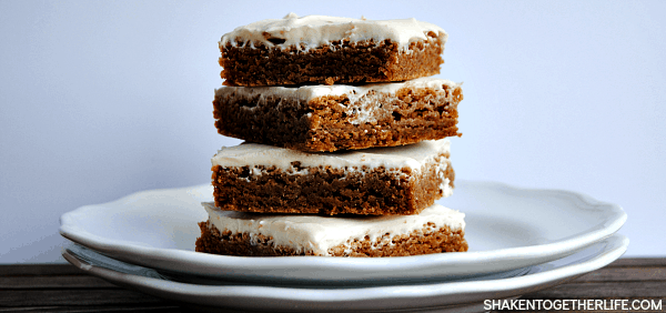 Our maple cookie bars may start with a boxed mix, but the homemade brown sugar cream cheese frosting is nothing short of amazing!