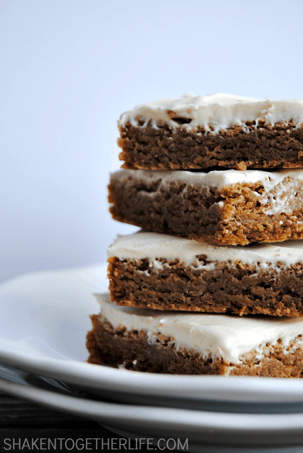 Our maple cookie bars may start with a boxed mix, but the from scratch homemade brown sugar cream cheese frosting is nothing short of amazing!