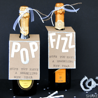 Heading to a New Years Eve party? Make DIY wine hang tags to ring in the new year with some POP! and FIZZ!