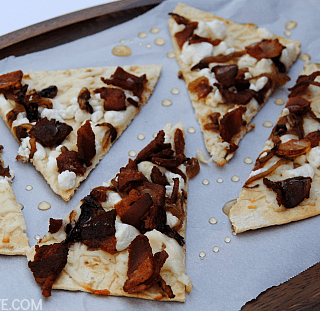 Bacon, Goat Cheese & Caramelized Onion Flatbread