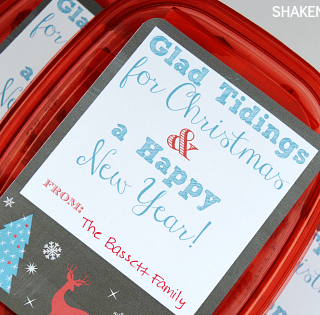 Glad Tidings Neighbor Gifts & Printable Label