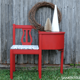 Gorgeous gossip bench makeover with Annie Sloan Chalk Paint