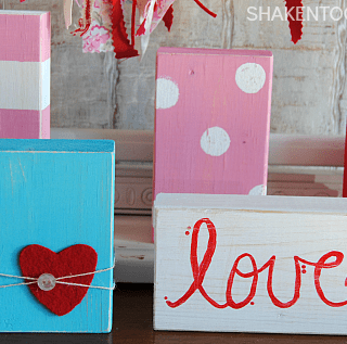 Valentine Wood Blocks