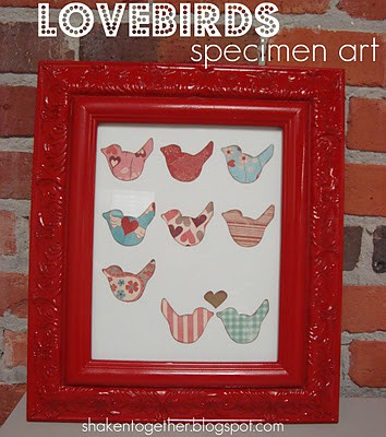 Love Birds Specimen Art - sweet Valentine home decor!