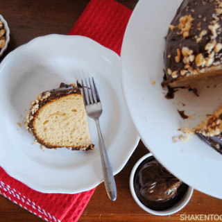 Peanut Butter Bundt Cake with EASY Chocolate Frosting