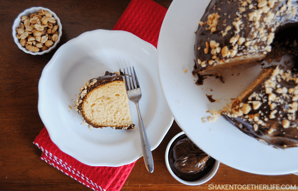 Since peanut butter and chocolate are maybe the best combo on the planet, this peanut butter bundt cake with EASY chocolate frosting is out of this world!