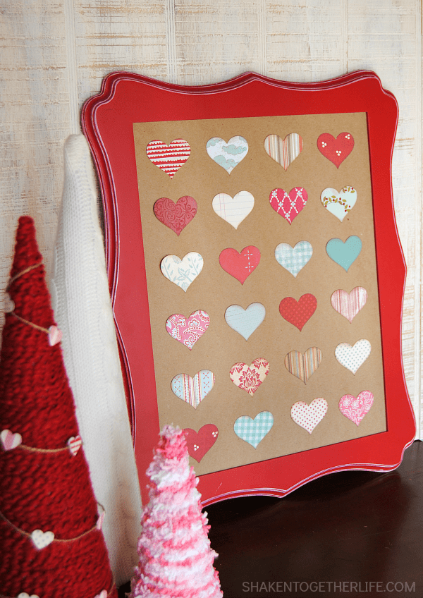 Raid your scrapbook paper stash, grab a heart shaped punch and make this Easy Valentine Heart Specimen Art!