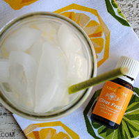 Citrus Fresh Fizz is a great healthy alternative to soda! Use Young Living essential oils for this citrus mint sparkling drink!
