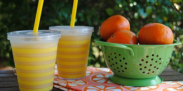 Grab your blender and whiz up a batch of liquid sunshine - Sunshine Slush!