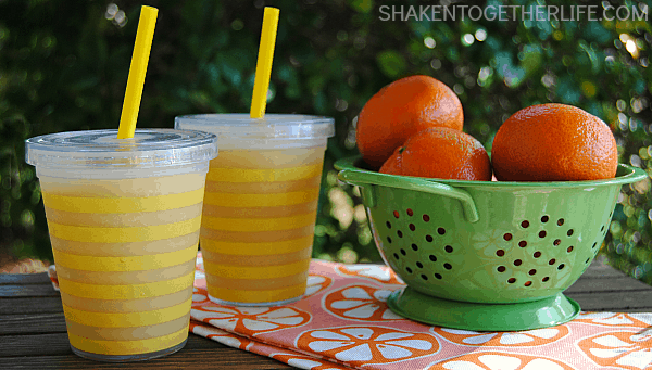 Grab your blender and whiz up a batch of liquid sunshine - Sunshine Slush!
