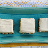 These soft Banana Sugar Cookie Bars pack BIG banana flavor and they are topped with loads of rich, tangy cream cheese frosting!