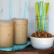 Creamy dreamy Cookie Dough Iced Coffee!