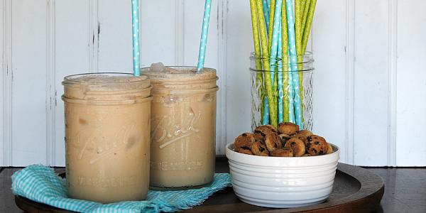 Creamy dreamy Cookie Dough Iced Coffee!