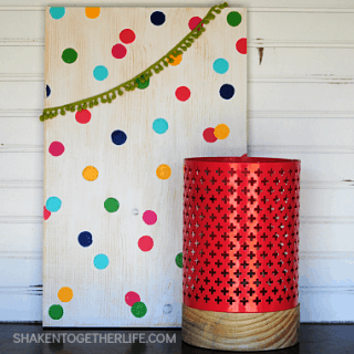 {Martha Stewart Inspired} Polka Dot Wood Sign