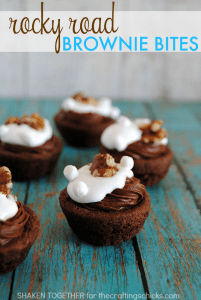 Rocky Road Brownie Bites - Shaken Together at The Crafting Chicks