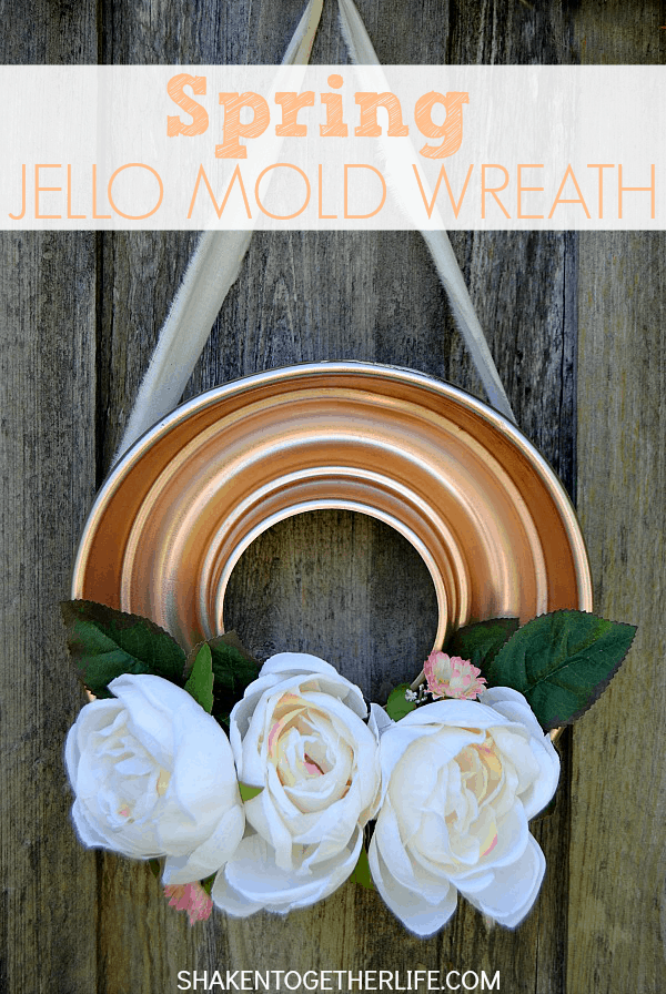 LOVE this fun and funky Spring Jello Wreath Mold - that copper Jello mold was only $3 at the Habitat Restore!