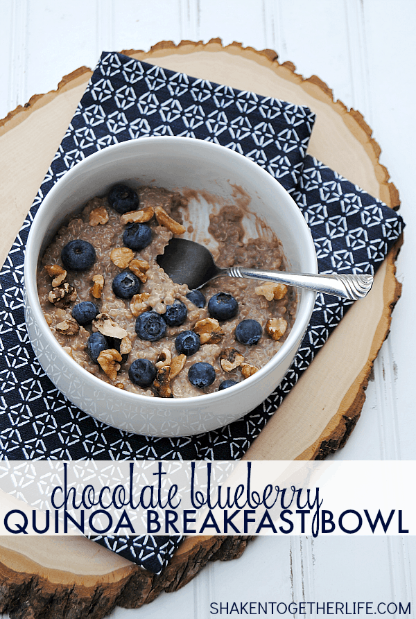 Chocolate Blueberry Quinoa Breakfast Bowls - packed with protein, fruit and nuts - are proof that a hearty and healthy breakfast can be easy and delicious!