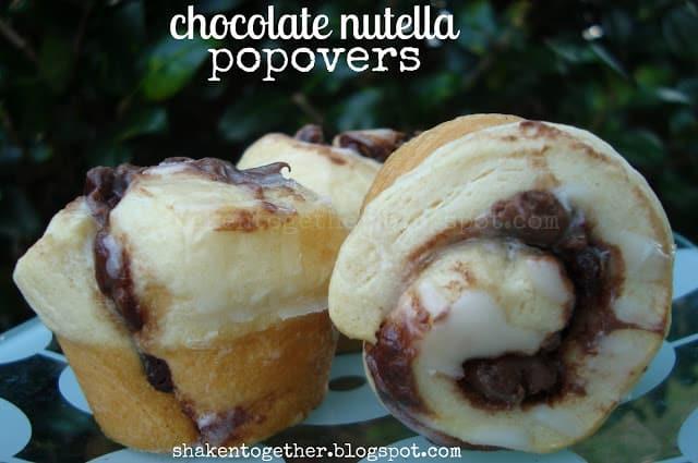 Mini Chocolate Nutella Popovers