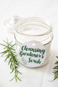 2 ingredient gardener's hand scrub in jar