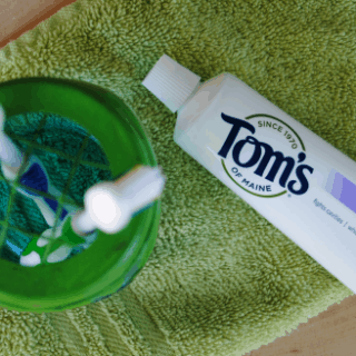 Globe Inspired Mason Jar Toothbrush Holder for Earth Day