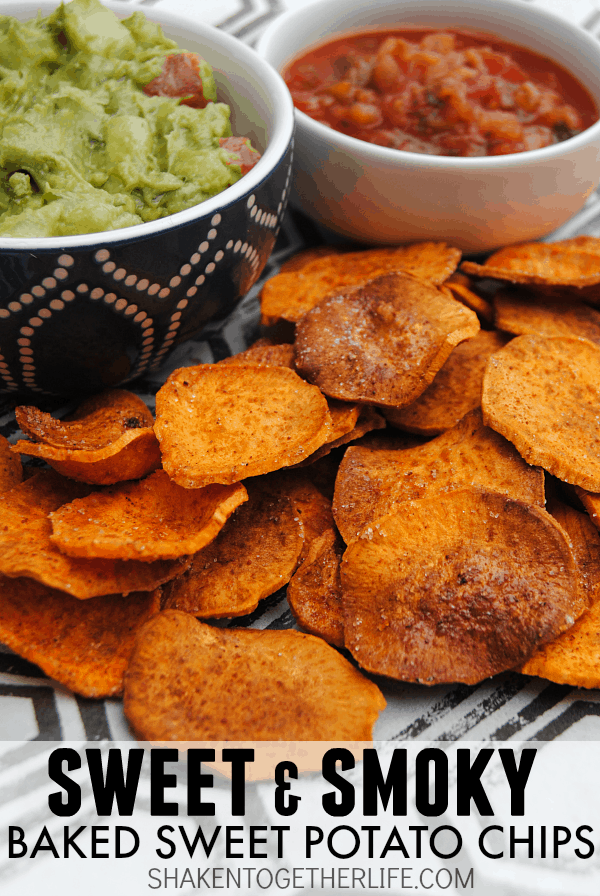 We LOVE these sweet and smoky baked sweet potato chips - they are a great way to snack without all the calories! #SplendaSweeties #SweetSwaps