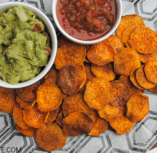 Sweet & Smoky Baked Sweet Potato Chips