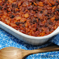 When my mom passed down her recipe for Calico Beans, I understood why everyone always called them the BEST baked beans! Beans, bacon and beef are the stars of this hearty side dish!