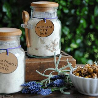 Chamomile Lavender Oatmeal Milk Bath
