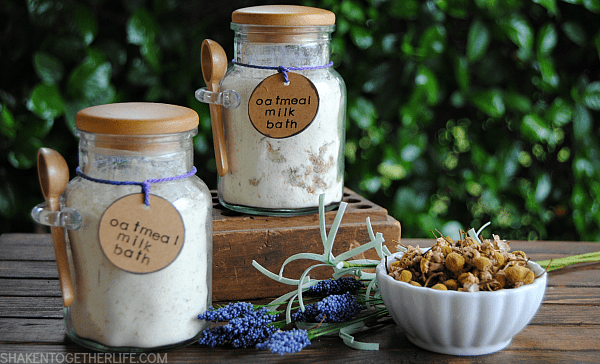 Chamomile Lavender Oatmeal Milk Bath - soothing and pampering and perfect for gifts!