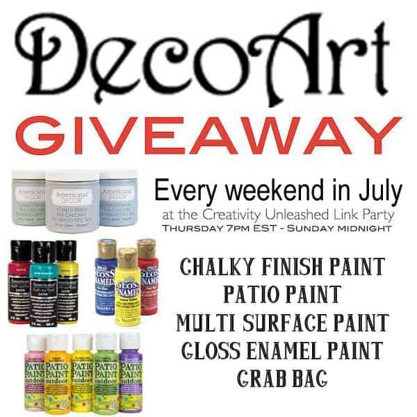 DecoArt Giveaway at the Creativity Unleashed Link Party!