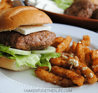 Greek Pork Burgers & Feta Fries