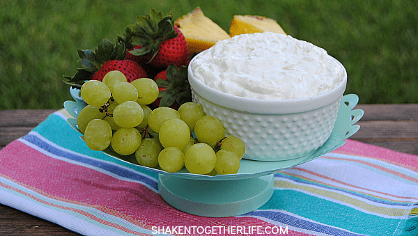 Pina Colada Fruit Dip is an easy, 3-ingredient tropical treat!