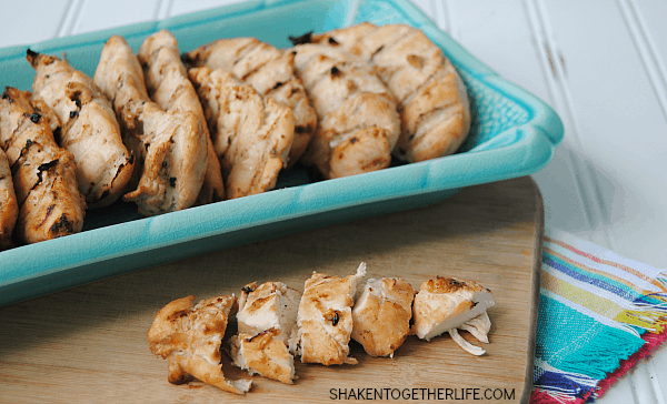 When we fire up the grill, a batch of this 3-ingredient chicken marinade is not far behind! It keeps the chicken moist and packs a TON of flavor!