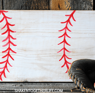 Easy Wooden Baseball Sign