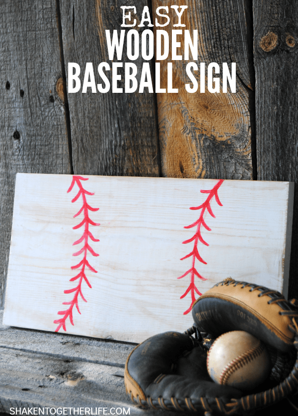 Make A Quick And Easy Wooden Baseball Sign For The Lover In Your Life