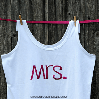 How to Make a Mrs. Shirt with Heat Transfer Vinyl